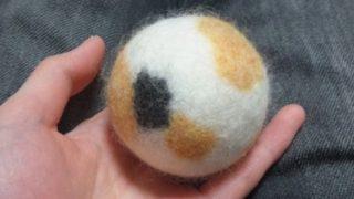 三毛猫の柄のボールが変身!
