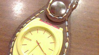 壊れた腕時計をリメイクした。