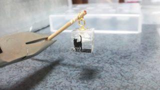 1cm角の猫キューブ作った