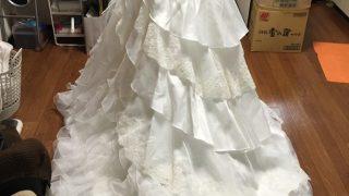 ウェディングドレスの改造 その1