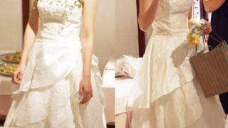 ウェディングドレスの改造 その2