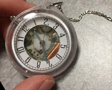 百均腕時計を懐中時計風に改造した